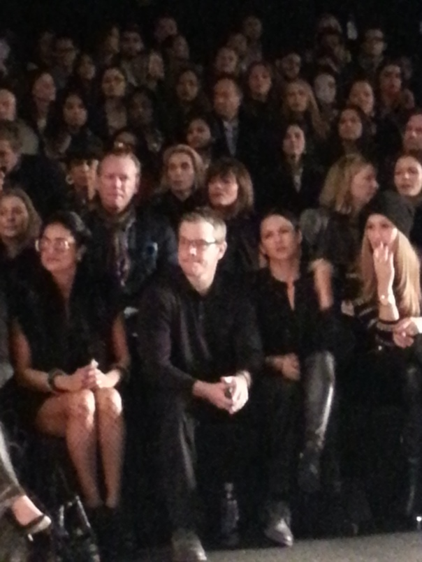 Matt Damon and wife at Naeem Khan #NYFW FW13