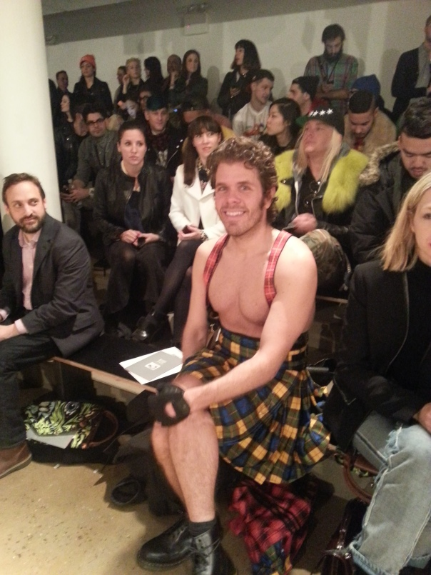 Perez Hilton at Jeremy Scott#NYFW FW13. Milk Studios