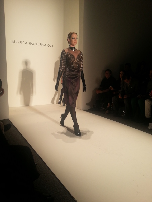 Falguni and Peacock LC#NYFW FW13
