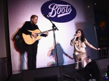 Marina and the Diamonds performs as Boots Beauty celebrates its launch into Walgreens at The Bailey Pub & Brasserie on March 24, 2015 in New York City. *** Local Caption *** Marina Lambrini Diamandis