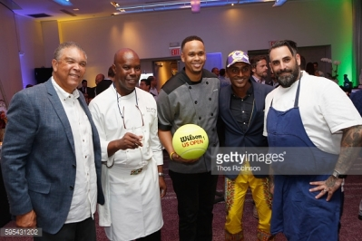 Chef Marcus Samuelsson and Adam Schop
