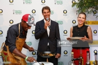 Chef Marcus Samuelsson tasting demo with Raphael Nadal