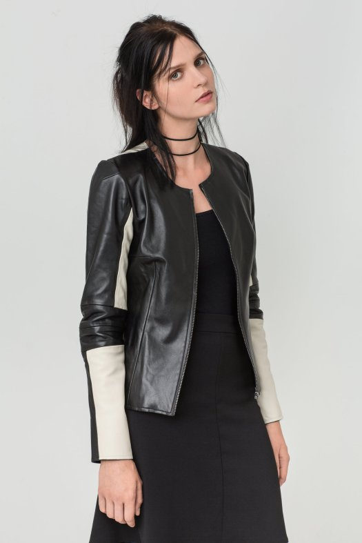 Olivia Leather Jacket Fall16