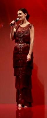 Katie Holmes Red Dress Show
