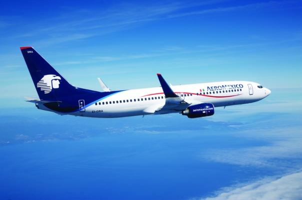 AeroMexico 737-800 air to air