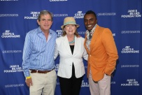 Chair of the JBF Board of Trustees Fred Seegal, JBF President Susan Ungaro, Honoree Marcus Samuelsson seen at the 2017 JBF Chefs and Champagne at Wolffer estate on Saturday, July 29, 2017 in Sagaponack, N.Y. (Photo by Mark Von Holden/Invision for James Beard Foundation/Invision)
