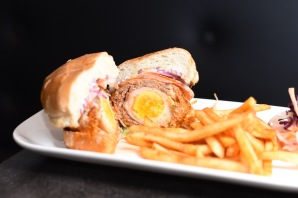 Scotch Egg Burger