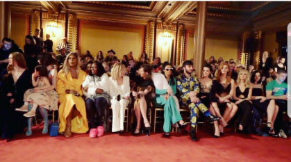 Front Row Christian Siriano Laverne Cox, Whoopi Goldberg, Meg Ryan, Cardi B