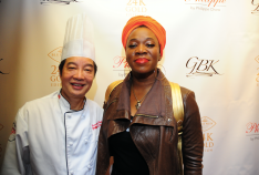 Chef Philippe Chow and India Arie