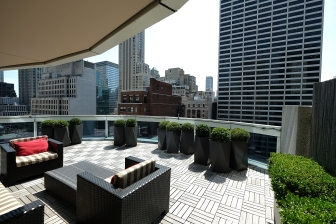 NEW YORK, NY - MAY 02: General view of terrace outside the Tony Awards Suite and Farver Exhibit at the SOFITEL New York Hotel on May 2, 2018 in New York City. (Photo by Michael Loccisano/Getty Images for Tony Awards Productions)