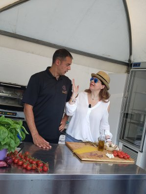 Chef Pasquale and Ornella Fado